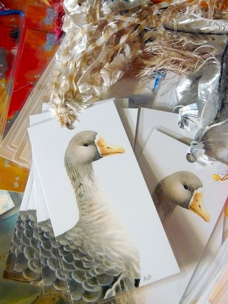 Goose bookmark