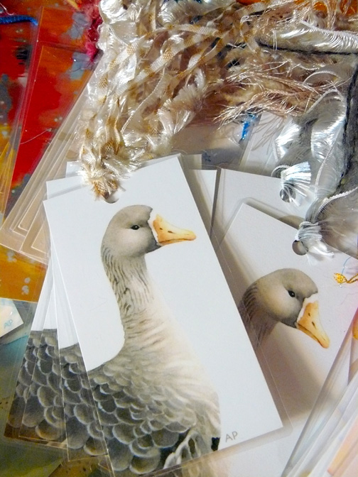 Goose bookmark