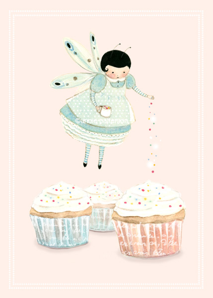 Cupcake fairy card